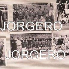 Coleccionismo deportivo: SELECCIÓN ESPAÑOLA DE FÚTBOL. LOTE 6 FOTOS ALINEACIONES EN EL MUNDIAL 1950 DE BRASIL. Lote 194140945