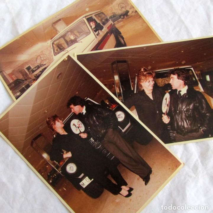 3 FOTOGRAFÍAS DE ANGEL NIETO EN CONCESIONARIO DE COCHES MERCEDES (Coleccionismo Deportivo - Documentos - Fotografías de Deportes)