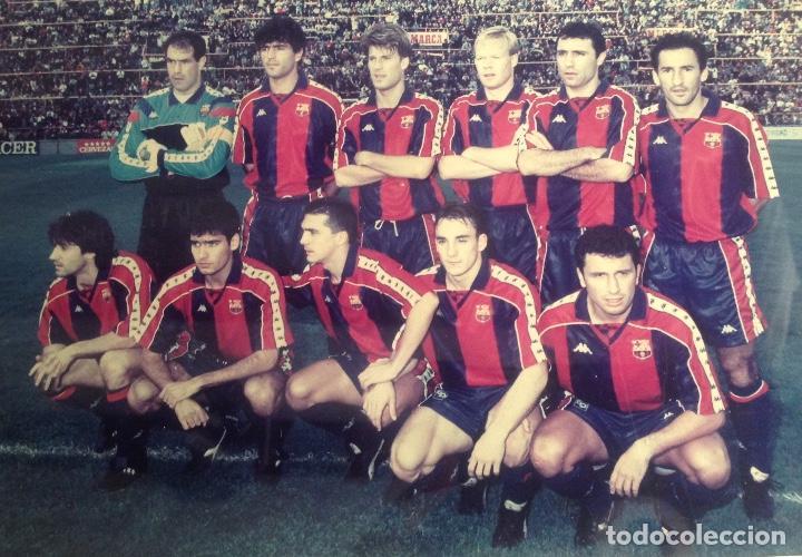 Coleccionismo deportivo: ANTIGUA FOTO FÚTBOL CLUB FC BARCELONA F.C BARCA, CON SU CUADRO. - Foto 4 - 194229662