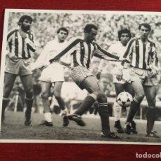 Coleccionismo deportivo: F3367 FOTO FOTOGRAFIA ORIGINAL PRENSA ABLANEDO I REAL MADRID SPORTING GIJON GORDILLO HUGO SANCHEZ. Lote 194623538