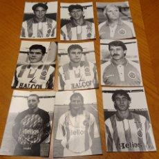 Coleccionismo deportivo: REAL VALLADOLID. NUEVE FOTOS ORIGINALES AÑOS 90. MUCHA CALIDAD.. Lote 194727511