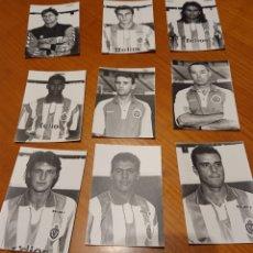 Coleccionismo deportivo: REAL VALLADOLID. NUEVE FOTOS ORIGINALES AÑOS 90. MUCHA CALIDAD.. Lote 194727713