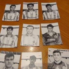 Coleccionismo deportivo: REAL VALLADOLID. NUEVE FOTOS AÑOS 90. ORIGINALES, MUCHA CALIDAD.. Lote 194727982