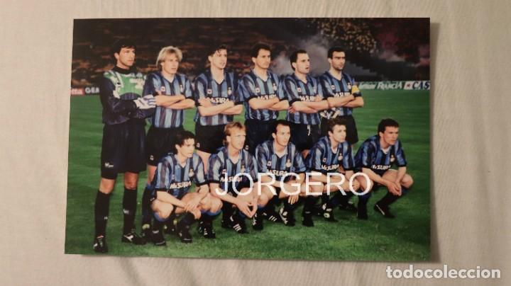 INTER DE MILÁN. ALINEACIÓN CAMPEÓN COPA UEFA 1990-1991 EN EL ESTADIO OLÍMPICO CONTRA LA ROMA. FOTO (Coleccionismo Deportivo - Documentos - Fotografías de Deportes)