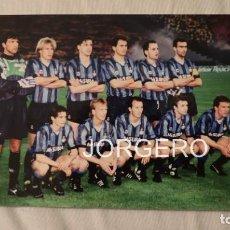 Coleccionismo deportivo: INTER DE MILÁN. ALINEACIÓN CAMPEÓN COPA UEFA 1990-1991 EN EL ESTADIO OLÍMPICO CONTRA LA ROMA. FOTO. Lote 194901518