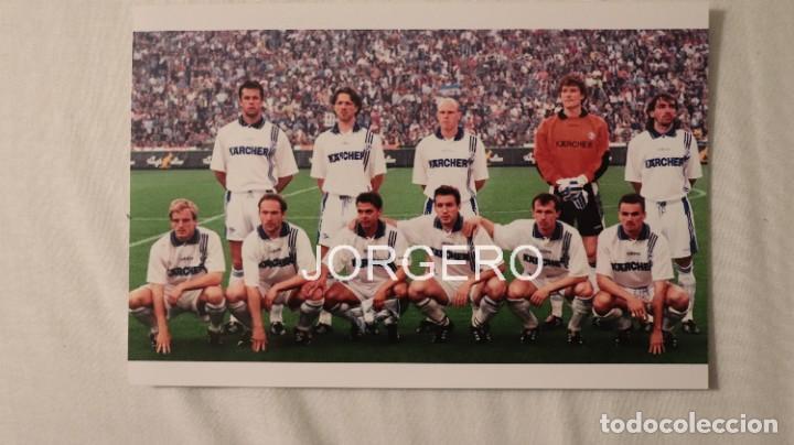SCHALKE 04. ALINEACIÓN CAMPEÓN COPA UEFA 1996-1997 EN MILÁN CONTRA EL INTER. FOTO (Coleccionismo Deportivo - Documentos - Fotografías de Deportes)