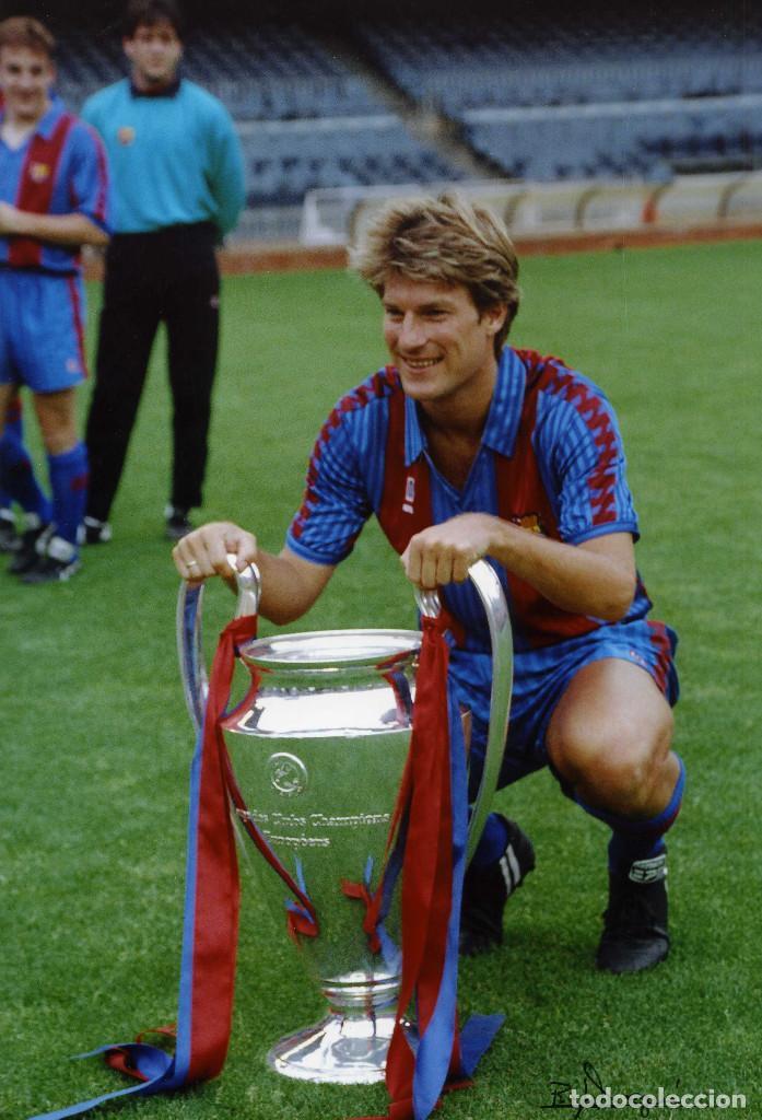 LAUDRUP - COPA DE EUROPA 1992 (Coleccionismo Deportivo - Documentos - Fotografías de Deportes)