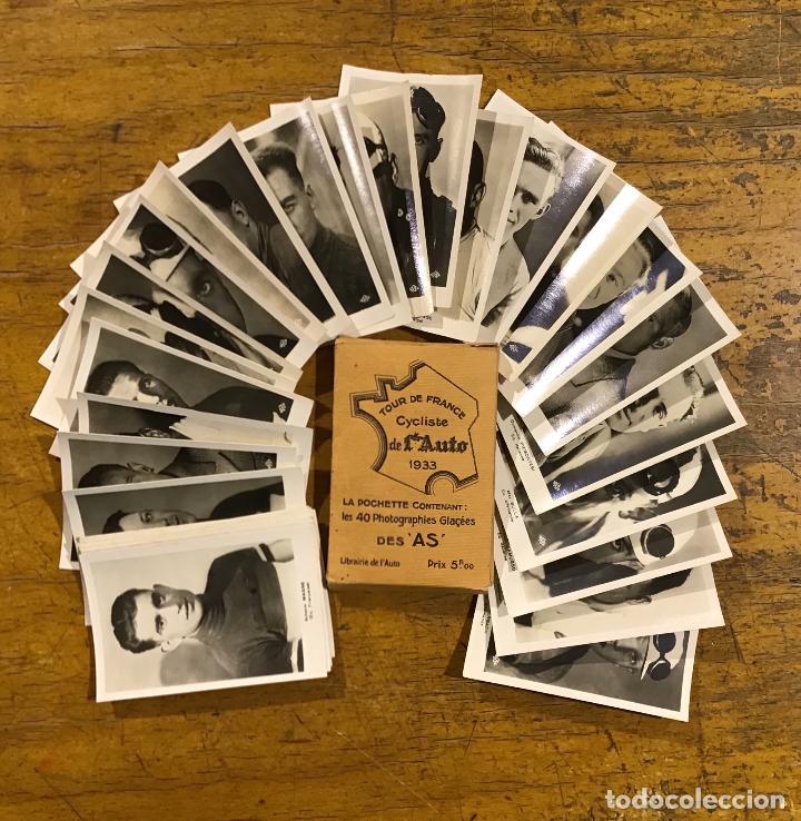 TOUR DE FRANCE 1933, 40 PHOTOGRAPHIES GLAÇEES (Coleccionismo Deportivo - Documentos - Fotografías de Deportes)