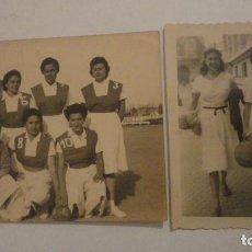 Coleccionismo deportivo: DOS ANTIGUAS FOTOGRAFIAS.DEPORTE.FUTBOL? FEMENINO.CHICAS.FOTO PALOMO.CORDOBA AÑOS 50?. Lote 195331491