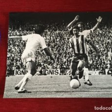 Coleccionismo deportivo: F3546 FOTO FOTOGRAFIA REAL MADRID 1-1 ATLETICO MADRID(15-5-1977)PIRRI AYALA CAMPEONES LIGA. Lote 195382697
