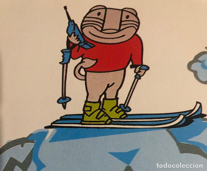 Coleccionismo deportivo: Publicidad de Movistar y Sierra Nevada 1996, con su mascota. Tamaño folio. Enmarcable. - Foto 2 - 195405958