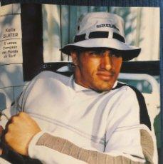 Coleccionismo deportivo: PUBLICIDAD DE QUIKSILVER, CON SURFER KELLY SLATER. ORIGINAL 1998. TAMAÑO FOLIO. ENMARCABLE.. Lote 195552093