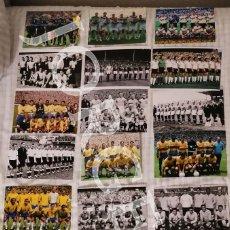 Coleccionismo deportivo: LOTE 21 FOTOS AUTÉNTICAS ALINEACIONES CAMPEONAS DE TODOS LOS MUNDIALES DE FÚTBOL. Lote 196320182