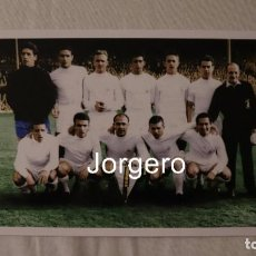 Coleccionismo deportivo: R. MADRID. ALINEACIÓN CAMPEÓN COPA DE EUROPA 1959-1960 EN GLASGOW CONTRA EINTRACHT F. FOTO. Lote 246105685