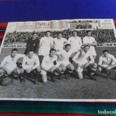 Coleccionismo deportivo: FOTOGRAFÍA ORIGINAL REAL MADRID VS DEPOR, ESTADIO DE CHAMARTÍN 9 ENERO 1944. 23,5X17,50 CMS. DE LUJO. Lote 197090241