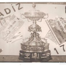 Coleccionismo deportivo: FOTOGRAFIA CARTEL TROFEO CARRANZA 1974 CRUYFF PELÉ. Lote 197378623