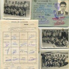 Coleccionismo deportivo: CLUB DEPORTIVO ASPENSE ASPE ALICANTE LOTE DE FOTOGRAFÍAS Y DOCUMENTOS AÑOS 1955/1991. Lote 198068727