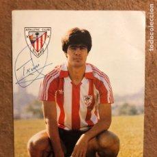 Coleccionismo deportivo: TXIRRI. FOTOGRAFÍA DEL JUGADOR DEL ATHLETIC CLUB AÑOS 80, CON AUTÓGRAFO.. Lote 199175592