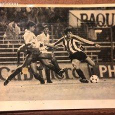 Coleccionismo deportivo: ESTANIS ARGOTE. FOTOGRAFÍA ORIGINAL B/N ATHLETIC CLUB AÑOS 80 SAN MAMÉS.. Lote 199237581