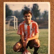 Collezionismo sportivo: EDU ESTIBARIZ. FOTOGRAFÍA OFICIAL ATHLETIC CLUB. FINALES 80S.. Lote 199427481