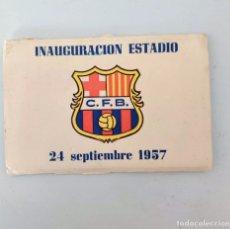 Coleccionismo deportivo: FC BARCELONA ORIGINAL ÁLBUM FOTOGRÁFICO INAUGURACIÓN ESTADIO 1957. Lote 200893980