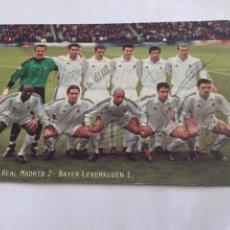 Coleccionismo deportivo: REAL MADRID CAMPEÓN CHAMPIONS 2002 CON AUTOGRAFOS. Lote 201494321
