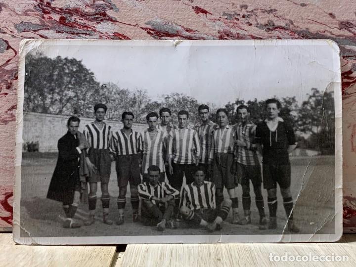 FOTOGRAFIA ATLETICO DE MADRID ALINEACION AÑOS 20 AVIACION LUIS OLASO MIEG ECHEVARRIA 9 X14 PPIO S XX (Coleccionismo Deportivo - Documentos - Fotografías de Deportes)
