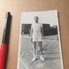 Coleccionismo deportivo: V. CERNIK WIMBLEDON 1951 FOTO CON AUTOGRAFO. Lote 202736542