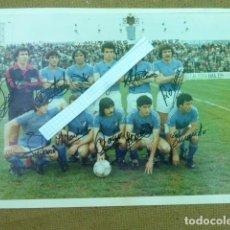 Coleccionismo deportivo: FOTO ORIGINAL FIRMADA POR LOS JUGADORES. LINARES C.F. AÑOS 80. FOTOS MARTINEZ. 15 X 20 CM. Lote 204968162