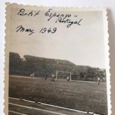 Coleccionismo deportivo: FOTOGRAFIA PARTIDO ESPAÑA - PORTUGAL 1949. Lote 206287750