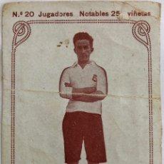 Colecionismo desportivo: 1920'S - JUGADORES NOTABLES - NO.20 GAMBORENA - R.U.IRUN - TARJETA. Lote 206546401