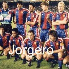 Coleccionismo deportivo: F.C. BARCELONA. ALINEACIÓN PARTIDO CHAMPIONS 1993-1994 EN EL CAMP NOU CONTRA DINAMO DE KIEV. FOTO. Lote 206946028