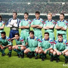 Coleccionismo deportivo: F.C. BARCELONA. ALINEACIÓN PARTIDO CHAMPIONS 1993-1994 EN EL CAMP NOU CONTRA SPARTAK DE MOSCÚ. FOTO. Lote 206946050