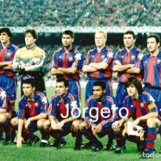 Coleccionismo deportivo: F.C. BARCELONA. ALINEACIÓN PARTIDO CHAMPIONS 1994-1995 EN EL CAMP NOU CONTRA EL GOTEBORG. FOTO. Lote 206950682