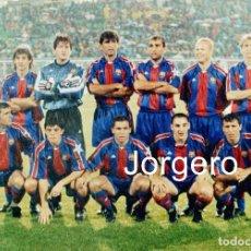 Coleccionismo deportivo: F.C. BARCELONA. ALINEACIÓN PARTIDO CHAMPIONS 1994-1995 EN EL GAMBA ULLEVI CONTRA EL GOTEBORG. FOTO. Lote 206950708
