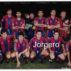 Coleccionismo deportivo: F.C. BARCELONA. ALINEACIÓN PARTIDO COPA DEL REY 1995-1996 EN ALICANTE CONTRA EL HÉRCULES. FOTO. Lote 206950721