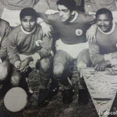 Coleccionismo deportivo: S.L. BENFICA. FOTO ORIGINAL SOBRE CARTÓN 40 X 30 CTMS. JOVEN EUSEBIO. Lote 207286072