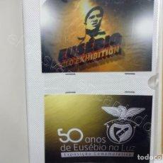 Coleccionismo deportivo: EUSEBIO. ALBUM 94 FOTOS FOTOS EXPOSICION-HOMENAJE. LISBOA. BENFICA. Lote 207618937
