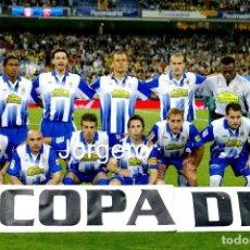 Coleccionismo deportivo: R.C.D. ESPANYOL. ALINEACIÓN CAMPEÓN COPA DEL REY 2005-2006 EN EL BERNABÉU CONTRA EL ZARAGOZA. FOTO. Lote 208121883