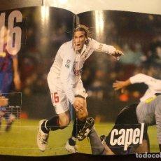 Coleccionismo deportivo: DIEGO CAPEL, JUGADOR DEL SEVILLA FC. PÁGINA DOBLE, PÓSTER DE REVISTA. NUEVO.. Lote 209911530