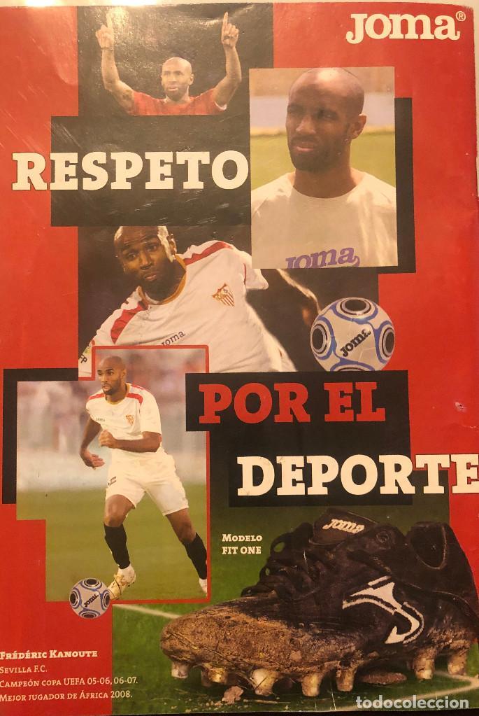 PUBLICIDAD DE REVISTA DE JOMA, CON FRÉDERIC KANOUTÉ DEL SEVILLA FC. ENMARCABLE. (Coleccionismo Deportivo - Documentos - Fotografías de Deportes)