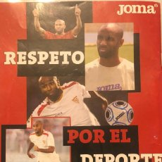 Coleccionismo deportivo: PUBLICIDAD DE REVISTA DE JOMA, CON FRÉDERIC KANOUTÉ DEL SEVILLA FC. ENMARCABLE.. Lote 209912198
