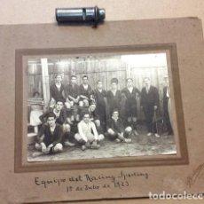 Coleccionismo deportivo: FOTOGRAFIA DEL RACING SPORTING. VIGO..1923. FOTOGRAFIA DE G. GUTIERREZ. TUY. Lote 209940938