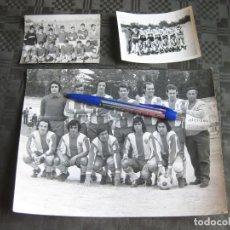 Coleccionismo deportivo: 3 FOTOGRAFIAS DE EQUIPOS DE FUTBOL. Lote 209976951
