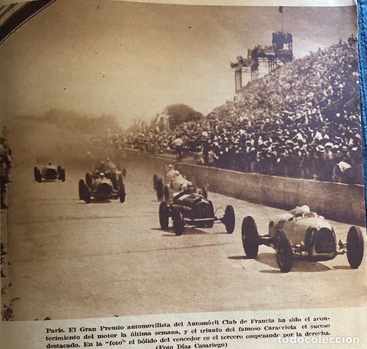 FOTOGRAFÍA DE PRENSA. PILOTO CARACCIOLA EN PARÍS. ORIGINAL AÑO 1935. 17 X 17 CM. BUEN ESTADO. (Coleccionismo Deportivo - Documentos - Fotografías de Deportes)