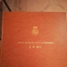 Coleccionismo deportivo: CARPETA JUNTA GENERAL EXTRAORDINARIA REAL MADRID 8-IX-73.. Lote 210413597