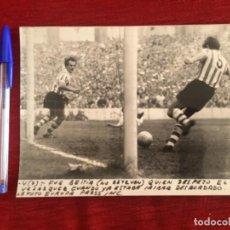 Coleccionismo deportivo: F8486 FOTO FOTOGRAFIA ORIGINAL DE PRENSA ATHLETIC BILBAO REAL MADRID (7-3-1971) BEITIA VELAZQUEZ. Lote 210581857