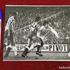 Coleccionismo deportivo: F8601 FOTO FOTOGRAFIA ORIGINAL DE PRENSA ATLETICO MADRID 1-3 REAL MADRID (9-4-1978) RUBEN CANO. Lote 210724074