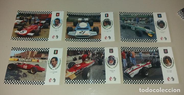 Coleccionismo deportivo: Postales Fórmula 1. Años 70. Brabham, Hill, Stewart, Pedro Rodriguez, etc.. 20 diferentes - Foto 3 - 212313828