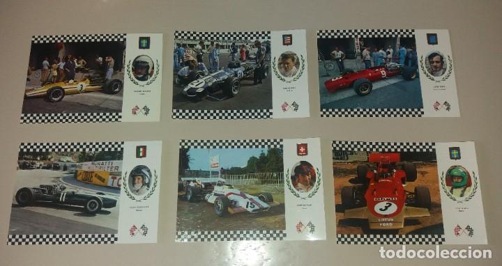 Coleccionismo deportivo: Postales Fórmula 1. Años 70. Brabham, Hill, Stewart, Pedro Rodriguez, etc.. 20 diferentes - Foto 4 - 212313828